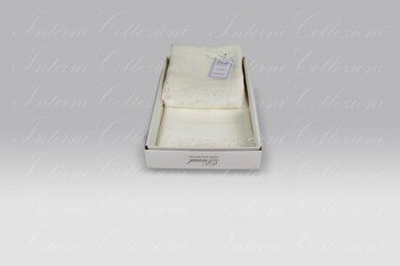Set 2 Pezzi Lino Vanitas latte bianco David Home Collection