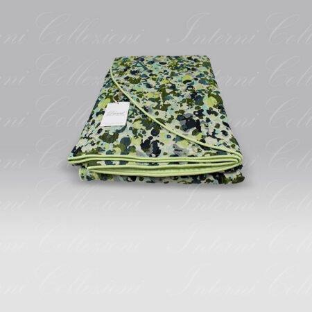 Copriletto Goccia verde blu David Home Collection
