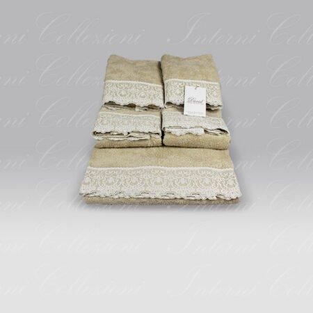 Set 5 Pezzi Armonia sabbia David Home Collection