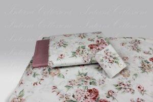 Completo Copripiumino Regina 8398 rosa Martha O Neil