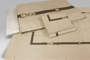 Completo Lenzuola Belt beige Borbonese