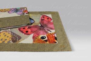 Completo Lenzuola Butterfly marrone Borbonese