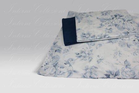 Completo Lenzuola Regina 8398 azzurro Martha O-Neil