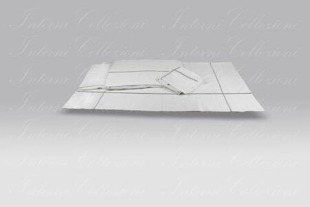 Completo Lenzuola Uptown bianco-argento Mastro Raphael