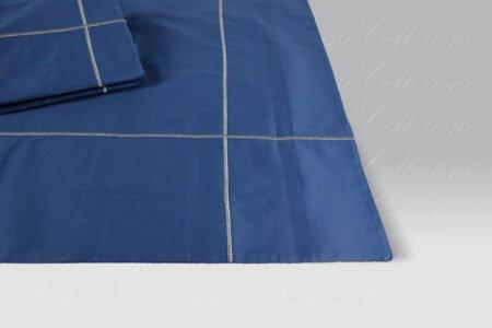Completo Lenzuola Uptown blu-argento Mastro Raphael