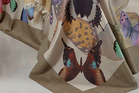 Telo Multifunzione Butterfly marrone Borbonese