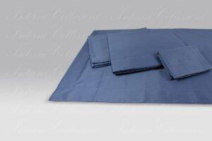 Completo Lenzuola Maine raso classic blu Micol